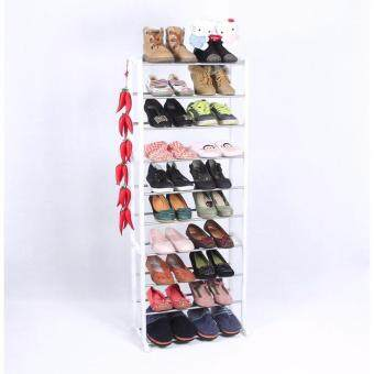 ชั้นวางรองเท้า 10 ชั้น Amazing Shoe Rack สีขาว