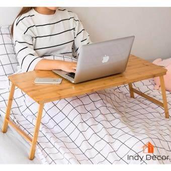 โต๊ะพับไม้ไผ่อัดประสาน ขนาด 80x38สูง32 ซม. สีธรรมชาติ