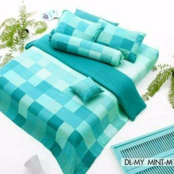 Dunlopillo ชุดผ้าปูที่นอน+ผ้านวม ขนาด 6ฟุต ลาย DL-MY MINT-M