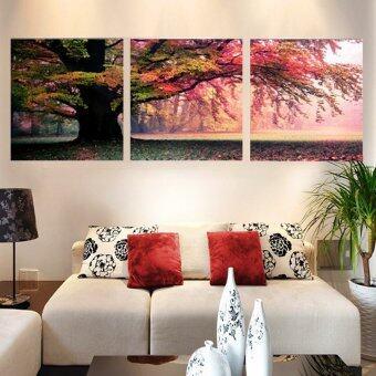 30ซม x 30ซม 3ชิ้น รูปภาพกำแพงศิลปะภาพวาดบนผ้าใบพิมพ์ใหม่สำหรับห้องนั่งเล่น