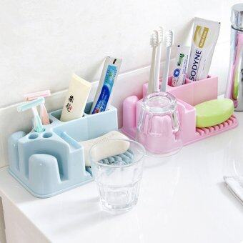 Harga Bathroom Supplies Multi-Purpose Colorful PP Plastic Cosmetic Makeup Wash Tools Storage Box Zakka Desktop Organizer Holder Boxes