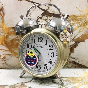 RHYTHM นาฬิกาปลุกกระดิ่งคู่ Bell Alarm Clock รุ่น CRA845NR18