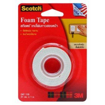 SCOTCH® CAT110 21MMX1M เทปโฟมกาวสองหน้า (แพ็ค 5 ชิ้น)
