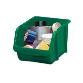 STACK-ON กล่องเก็บของอเนกประสงค์ขนาดกลาง รุ่น BIN-10 (สีเขียว)
