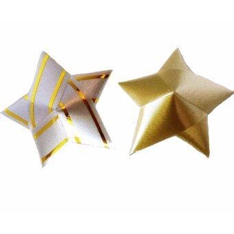 Dokpikul - เหรียญโปรยทาน รูปดาว เงิน-ทอง หลากสี แพค 100 เหรียญ สวยงาม ดูมีคุณค่า เป็นศิริมงคล