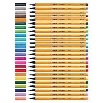 STABILO Point 88 ปากกาสีหมึกน้ำ Fibre-Tip Pen ชุด 25 สี