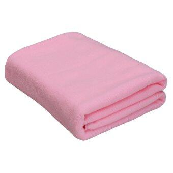 Harga Absorbent Microfiber Towel Bath Quick Drying Washcloth Bath Light Pink
