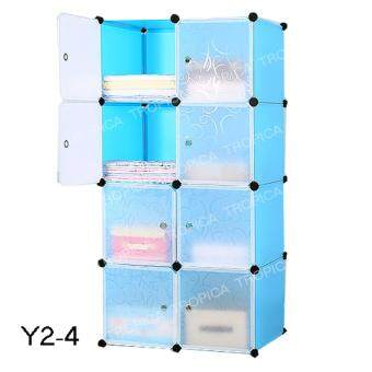 TROPICA ตู้เอนกประสงค์ DIY #Y2-4 สีฟ้าขาว