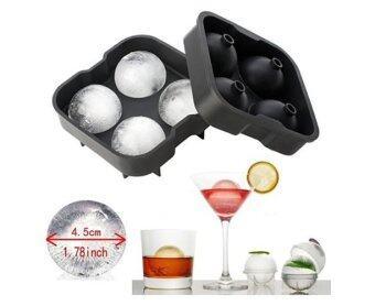 KitchenMarks ที่ทำน้ำแข็งก้อนกลม ซิลิโคนทำน้ำแข็งก้อนกลม พิมพ์ซิลิโคนทรงกลม (คละสี)