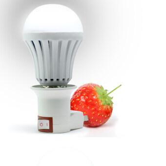 Station ชุดหลอดไฟ LEDอัจฉริยะ เสียบผลไม้ได้ (7Wสีขาว) ฟรี ขั้วและที่ห้อย มูลค่า 199 บาท