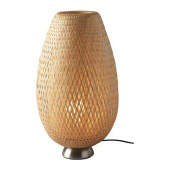 Ibiza Decor โคมไฟตั้งโต๊ะ-เฉพาะโคม ชุบนิกเกิล (Beige)
