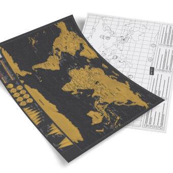 Scratch Map - Deluxe Edition Size M แผนที่โลก แบบขูดได้ บันทึกการเดินทาง