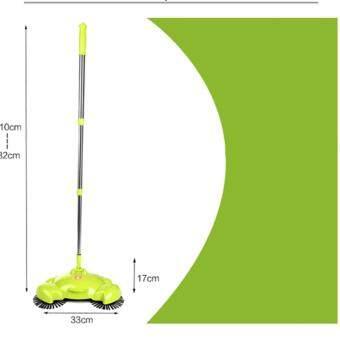 ไม้กวาดดูดฝุ่น ไม้กวาดอัจฉริยะ ใช้ง้ายด้ามปรับได้3ระดับ ประกอบง้าย หมุนได้ 360 องศา(สีเขียวอ่อน)