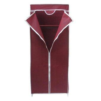 HHsociety ตู้เสื้อผ้า Quality Wardrobe ซิปเดียว - สีแดง