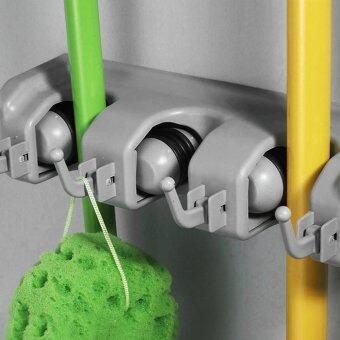 ชุดแขวนวางด้าม 3ตำแหน่ง Mop And Broom Holder Garage Tool Organizer w/ Wall Mount
