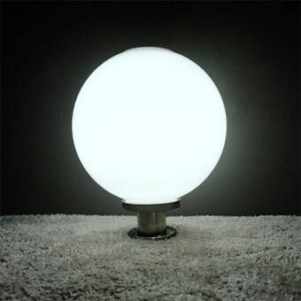 โคมไฟหัวเสา โซล่าเซลล์ ทรงกลม 40 cm. (เเสง:ขาว)