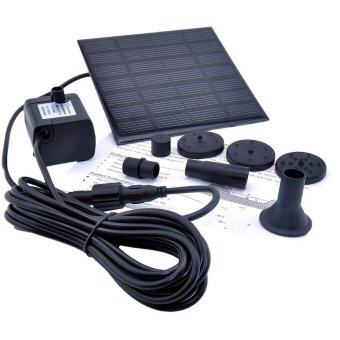 Leegoal 1.2วัตต์พลังงานแสงอาทิตย์ปั๊มน้ำปั๊มสวนน้ำพุดำ (สีดำ)