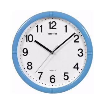 Rhythm นาฬิกาแขวนพลาสติก รุ่นCMG434NR04 (Blue)