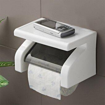 Allwin พลาสติกกันน้ำติดผนังห้องน้ำถือม้วนกระดาษกล่องเครื่องมือห้องขาว