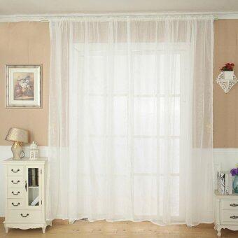 แฟชั่นผ้าม่านสีทึบปิดประตูหน้าต่างบานสูงพาดผ้าพันคอผ้าคลุมโต๊ะขาว