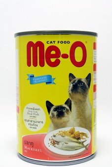 Me-o ปลาทู อาหารแมวชนิดเปียก(กระป๋อง) 400g.x6