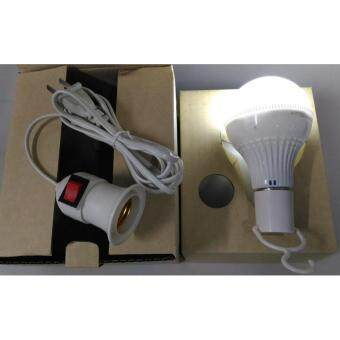 หลอดไฟอัจฉริยะแบบพกพา LED10W พร้อมตัวแขวนและสายชาร์จไฟแบบขั้วเปิด-ปิด