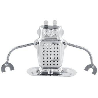 Harga Cute Stainless Steel Robot Tea Infuser Strainer Spice Filter Tea Essential