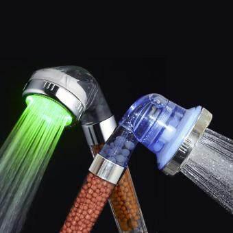 แพคคู่ ฝักบัวหินแรงดันสูง รุ่นไฟ LED และรุ่นปรับระดับได้