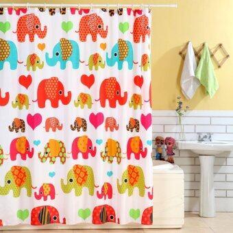 Elegance ผ้าม่านห้องน้ำ Polyester ช้างไทย 180X180CM.