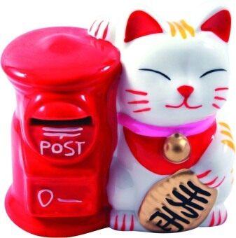 LEE TAI FU แมวออมสินตู้ไปรษณีย์แดง