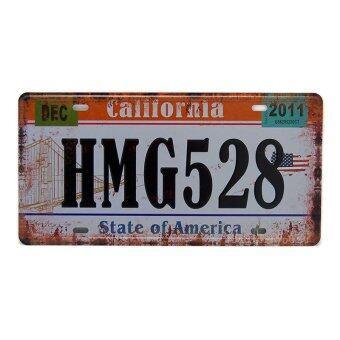 MonkeyAct ป้ายสังกะสีวินเทจ California HMG52 (ปั๊มนูน)