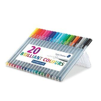 Staedtler ชุดปากกา Staedtler triplus fineliner 20 brilliant colors 0.3 mm.
