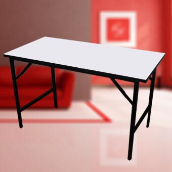 I-SMART โต๊ะพับได้อเนกประสงค์ขาพับ(โต๊ะประชุม)โครงขาเหล็กชุบแข็งแรง รุ่น 120x60x75 ( สีขาว )