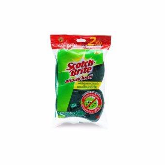 SCOTCH-BRITE® ฟองน้ำใยขัดสีเขียวแอนตี้แบคทีเรีย Antibac Green (ซื้อ 3 แถม 3)