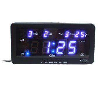 นาฬิกาดิจิตอล LED รุ่น CX-2158 (ตัวเลขสีน้ำเงินป
