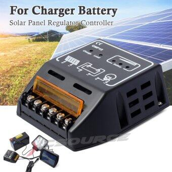 XCSource แผงควบคุมการเก็บประจุโซล่าเซล 10A 12V 24V Solar Panel Battery Power Charger Controller Regulator 120W