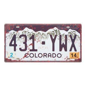 ป้ายทะเบียนตกแต่งบ้าน Colorado 431-YWX, ขนาด 30x15 ซม