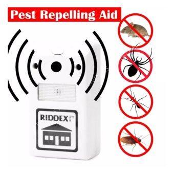 iremax เครื่องไล่หนู แมลงสาป ยุง มดและแมงมุม Electronic LED Light Pest Repelling Aid (White)