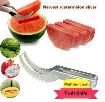 KitchenMarks ที่หั่นแตงโม ที่หั่น คว้าน คีบ แตงโม เมลอน มีดตัดและคีบแตงโม (image 1)