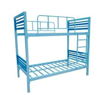 ISO เตียงเหล็กกล่อง 2ชั้น เหล็กหนาพิเศษ 3.5 ฟุต รุ่นคอนโด
