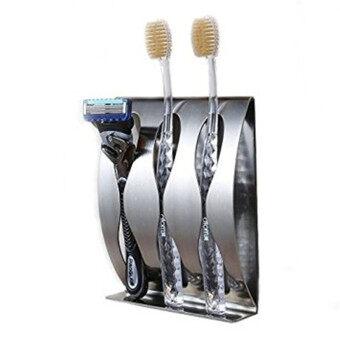 ถือมีดโกนแปรงสีฟันกาวติดผนังตัวบูธ-แปรงสเตนเลส