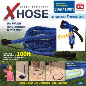 Ryder Amazing Hose สายยาง 15 เมตร สายยางยืดหดได้ อุปกรณ์นอกบ้านในสวน เฟอร์นิเจอร์ในสวน สายยางยืดหด ryder0058สีน้ำเงิน