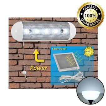 GOGO Solar โคมไฟผนัง 5 LED พลังเเสงอาทิตย์ (เปิดปิดเอง)