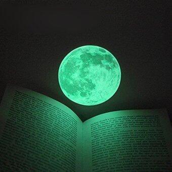 Aukey 30ซมเรืองแสงในที่มืดดวงจันทร์ศิลปะการตกแต่งบ้านถอดสติกเกอร์ติดผนัง