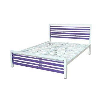 ISO เตียงเหล็กกล่องอย่างหนา รุ่นคอนโด ขนาด 3.5ฟุต