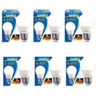 Saneluz หลอดไฟ LED Bulb SZ 3W หลอดปิงปอง (Daylight แสงขาว) 6 หลอด