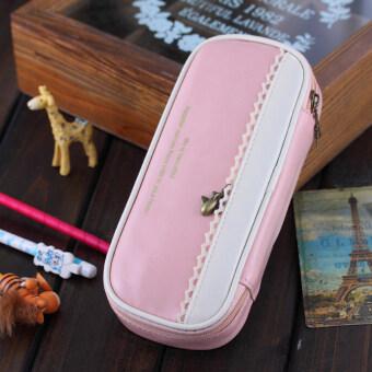 ปากกาดินสอกระเป๋าซิปกระเป๋าเครื่องสำอางกระเป๋าทำแปรงใหญ่ #2