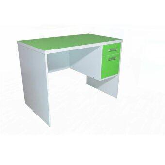 DSB Decor โต๊ะทำงานหน้าท๊อป PVC ขนาด 100cm (สีเขียว) รุ่นTZ-117