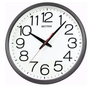 RHYTHM นาฬิกาแขวน รุ่น CMG495NR02 (สีดำ/ขาว)