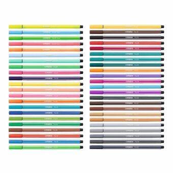 STABILO Pen 68 ปากกาสีหมึกน้ำ Fibre-Tip Pen ชุด 44 สี